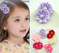 20pcs 2016 Hot Pink Kids Hair Clips Boutique Girls Love Duck Clip Princess Floral Pearl Hairpins