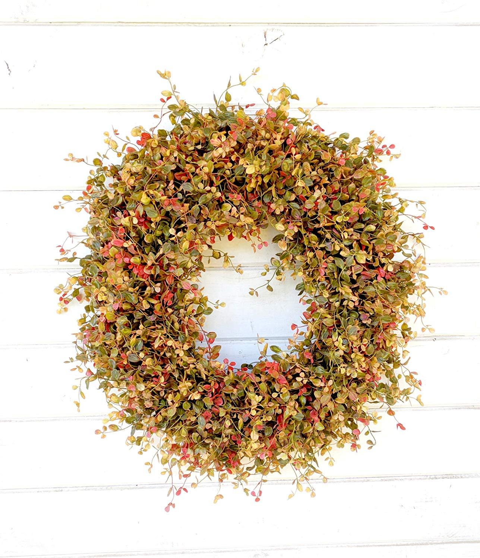 Fall Wreath, Fall Decor,Greenery Wreath, Wreath, Autumn Wreath, Thanksgiving Wreath, Farmhouse Wreath, Front Door Wreath, Year Round Wreath, Door Wreath, Fall Home Decor, Housewarming Gift-Gifts