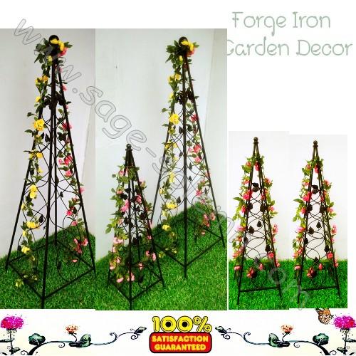 wrought iron garden obelisk, wrought iron garden obelisk suppliers, Garden idea