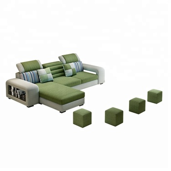 House And Hotel Living Room Furniture Fabric Modern L-shaped Red Corner  Sofa Sectional Three-seate Sofa Set With Lounger Chair - Buy Corner  Sofa,Sofa ...
