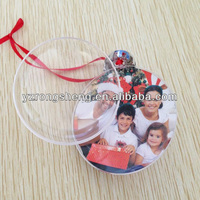 hanging openable transparent oblate christmas ball ornament photo