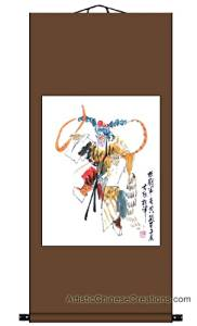 Chinese Art / Chinese Brush Paintings / Traditional Chinese Paintings - Chinese Painting Scroll - Chinese Opera / Monkey King