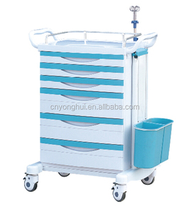 High Quality Medical ABS Aluminum Hotel Bar Hospital Plastic Service Cart