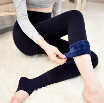 women winter warm fleece lined extra thick tights pants warm leggings