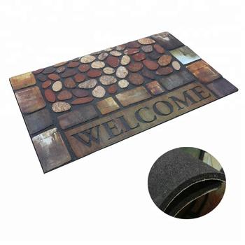 Washable Durable Indoor Outdoor Floor Mat Entrance Rubber Door Mat