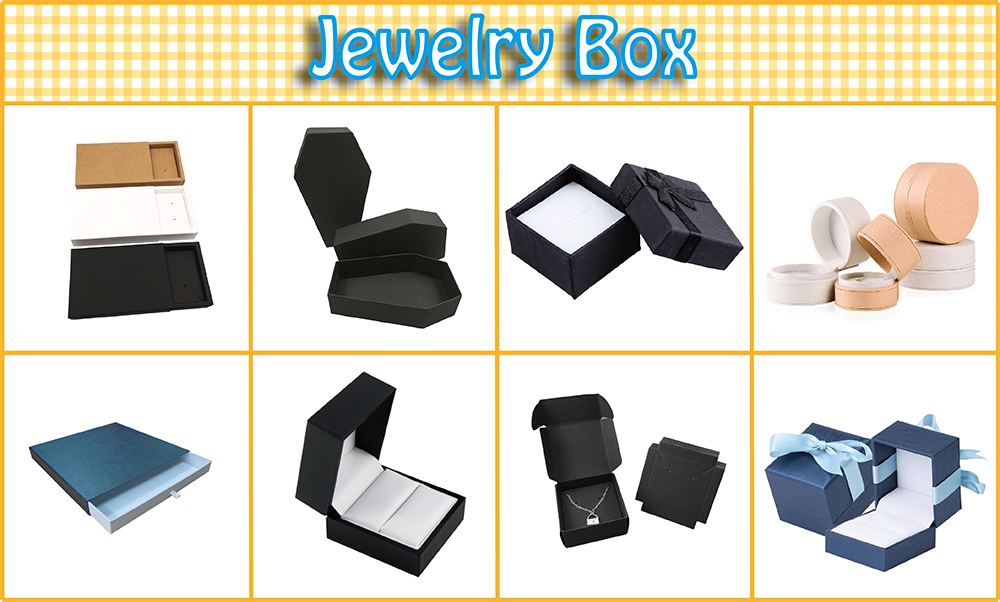 Custom packaging light blue jewelry gift paper box