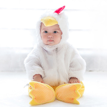 73cb49ad6d99 Kids Newborn Baby Cute Duck Long Sleeve Halloween Cosplay Winter Outfits  Mascot Animal Costume