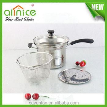 2014 New Design Product Stainless Steel Pasta Pot With Strainer
