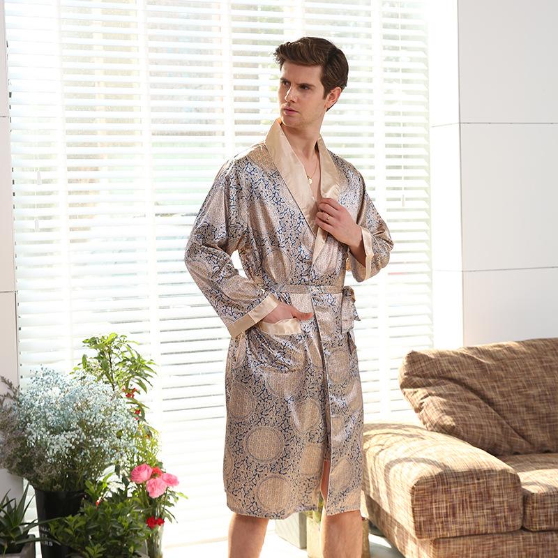 Herbst Männlichen Pyjamas Sets Reine Baumwolle Kimono Herren Nachtwäsche Japanischen Stil Pyjamas Männer Weichen Hause Tragen 2 Stücke Hohe Qualität StraßEnpreis Schlaf- Und Hauskleidung Für Herren
