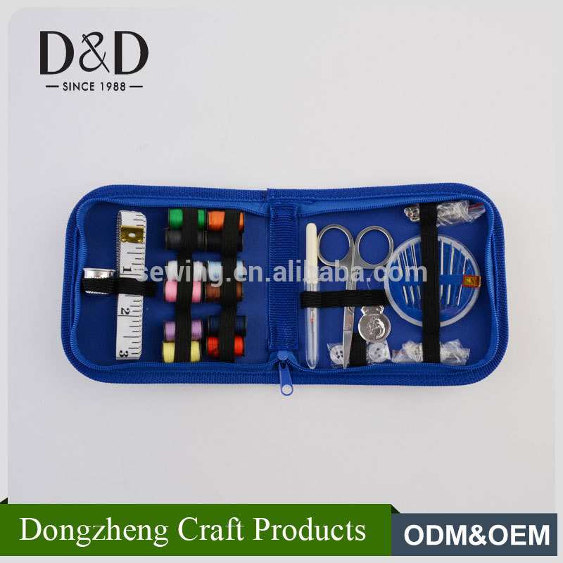 New practical professional cheap mini size travel sewing kit with oxford pouch