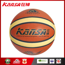 Kansa-0939 Official All Star Orange&Light Color PU Leather In Good Quality Exerciser Basketball