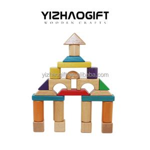 Eco-Friendly creative Educational kindergarten Wooden Building Blocks for kids