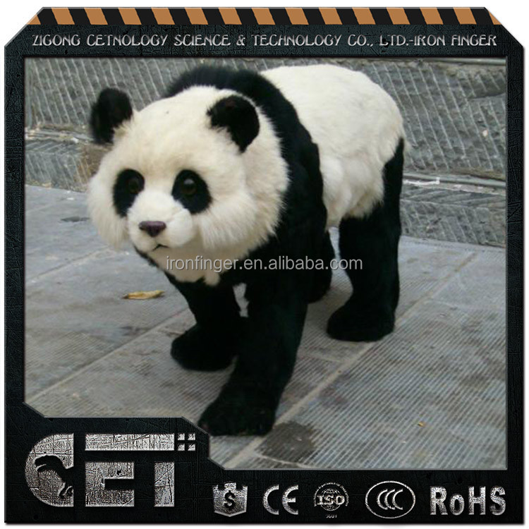 CET-A 377 popular big kids electric plush moving animal toys at exhibition
