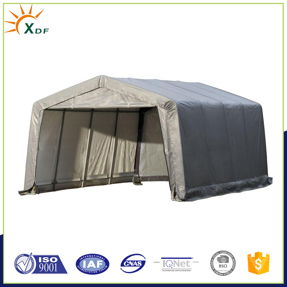 Portable Garage 12 ft x 16 ft x 8 ft Peak Style Grey Caports