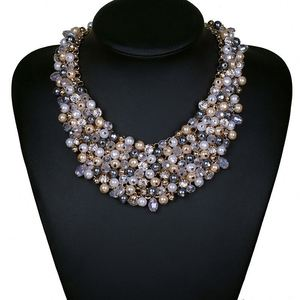 6e50947ba Multi Strand Faux Pearl Necklace Wholesale, Pearl Necklace Suppliers -  Alibaba