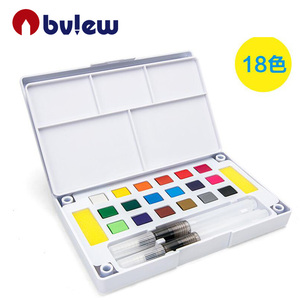 Artist professional 18 colors solid water color cake for drawing