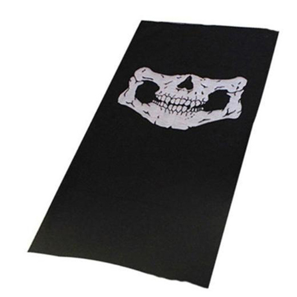 Man's Neck Face Headwear Warm White <strong>Black</strong> Skull <strong>Bandanas</strong>