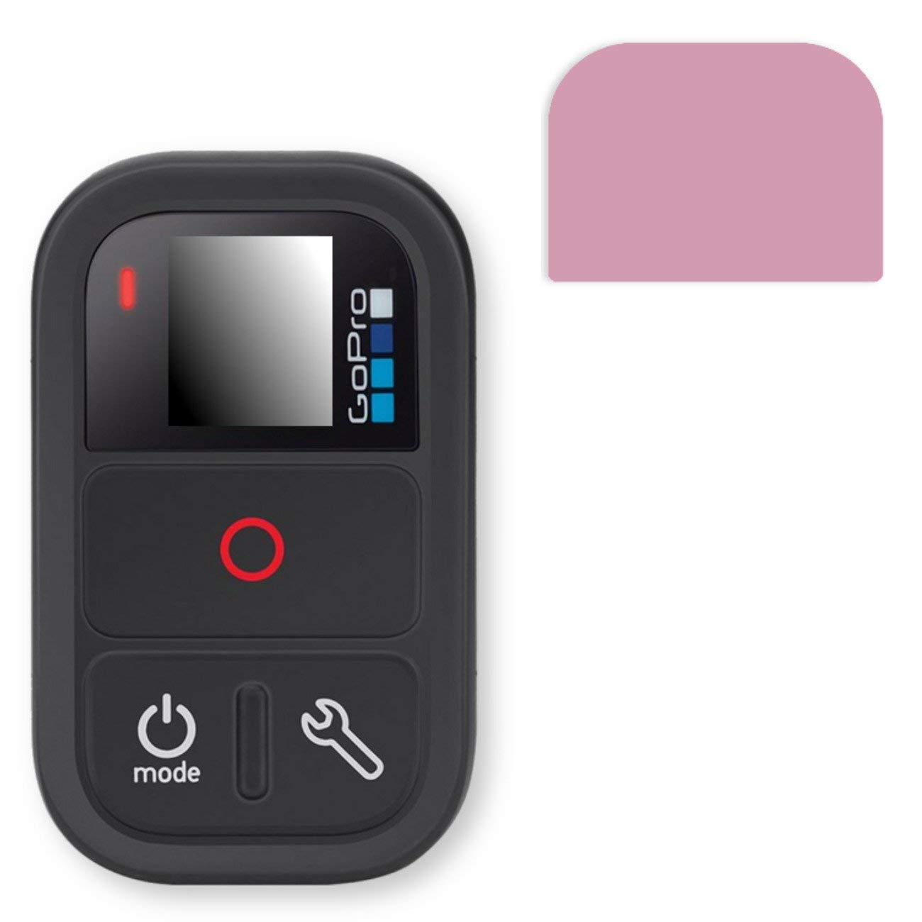 GOLEBO Screen Film for Privacy protection pink for GoPro Remote - PREMIUM QUALITY