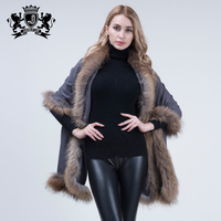 Factory Direct Price Fashion Raccoon fur shawl women scarf shawl Autumn