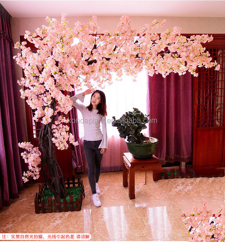 trees for indoor wedding decoration plastic artificial cherry blossom tree