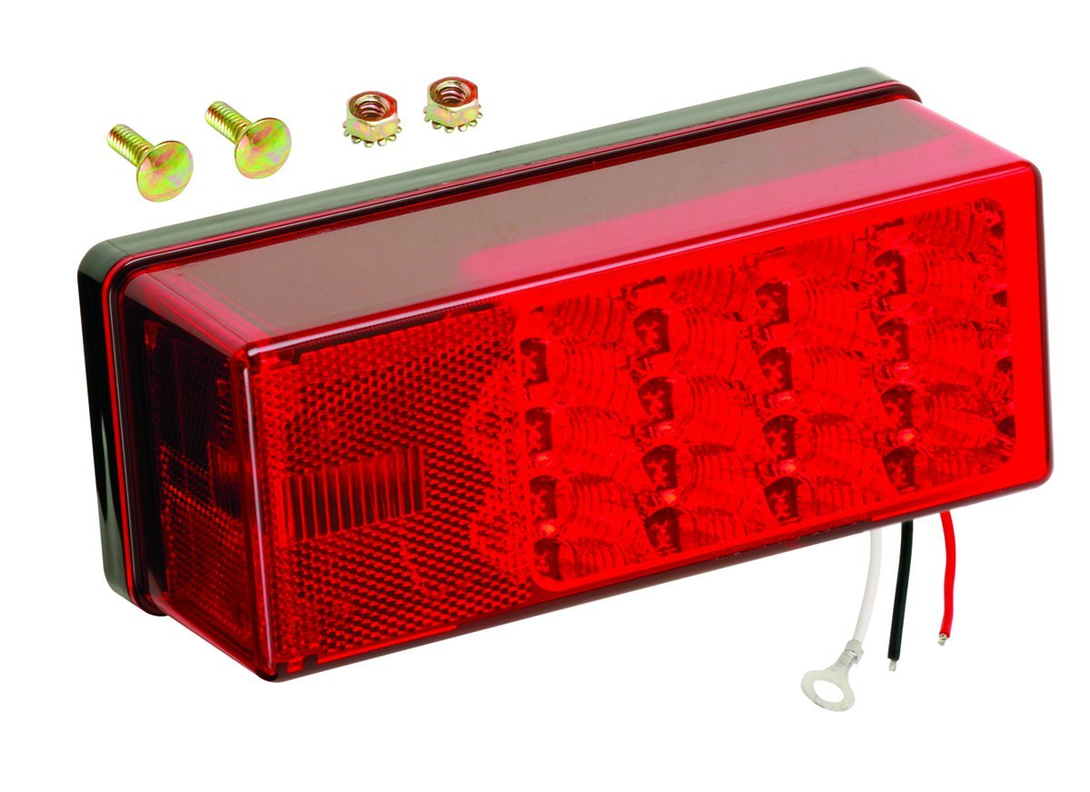 Get Quotations · Wesbar 407535 Left Hand Low Profile LED Waterproof  8-Function Tail Light