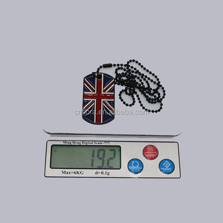 Personalized UK Country Flag Banner metal military tag necklace,England Ireland Scotland Wales Union Jack ID Pet Dog Tag
