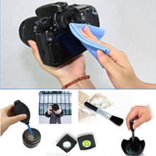 NEW 4 in 1 Camera Cleaning Set Air Blower Lens Cleaning Cloth Brush Spirit Hot Shoe Cover for all DSLR