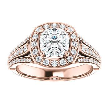 Sje025 Saudi Arabia Gold Wedding Ring Price Cushion Cut Aaa Cubic