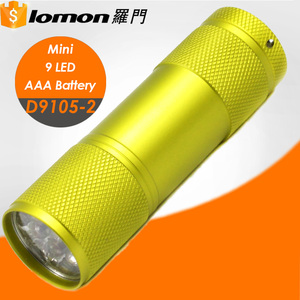 D9105-2 9 LED Mini Gift Customize Wholesale Strong Light AAA Flashlight