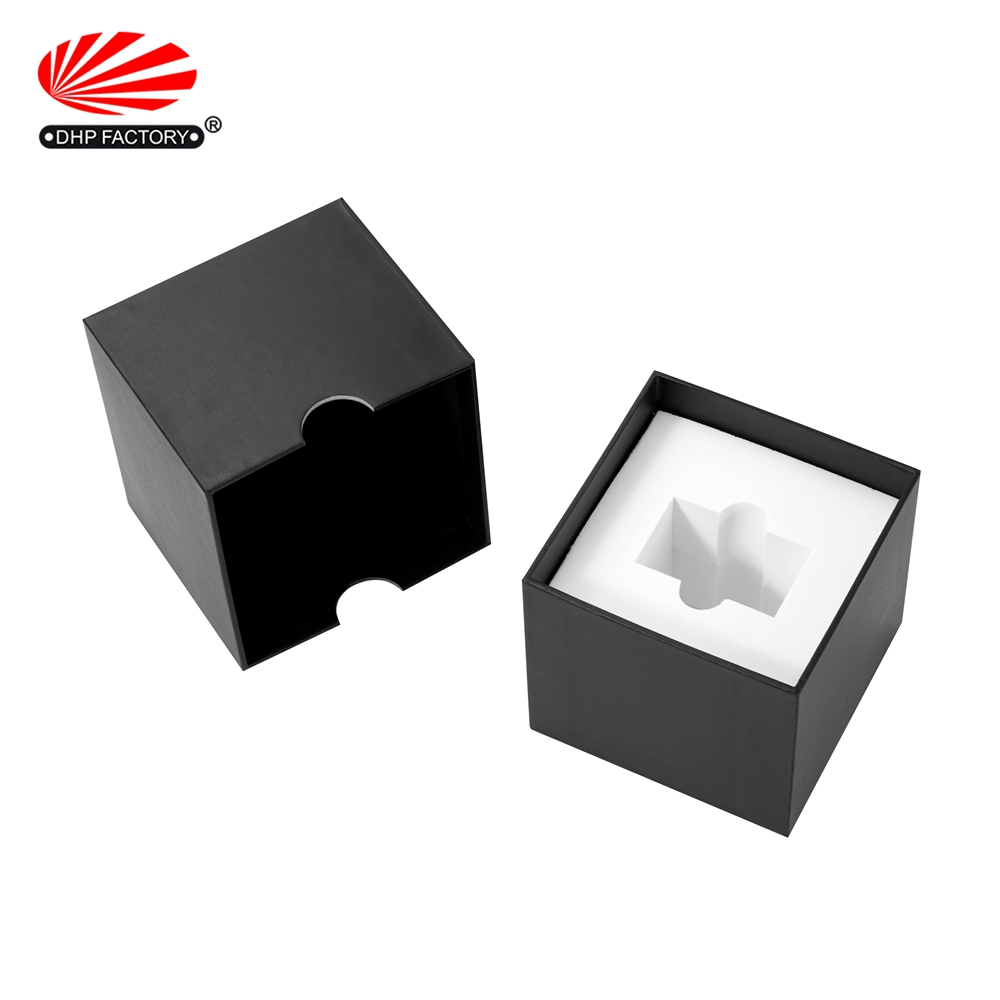 Men Watch Luxury Black Cardboard Gift Small Box Packaging
