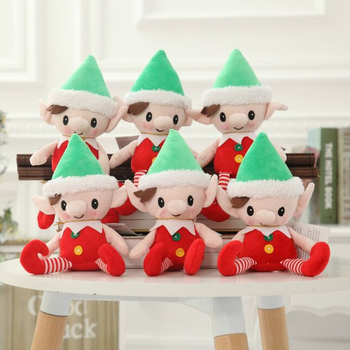 christmas elf on the shelf,ornament of plush toy