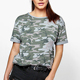 New brand wholesale western women oversized camo t shirts