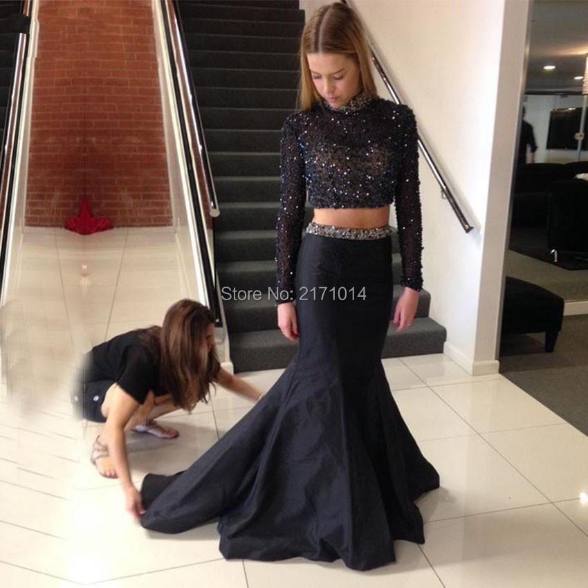 Fine Luxury Sexy Sequin Beads Silver Long Sleeves Elegant Gowns Hofit Golan Red Carpet A-line Celebrity Dresses 2017 Vestidos Longo Weddings & Events