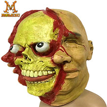2017 Wholesale addult rubber zombie mask for halloween dress costume