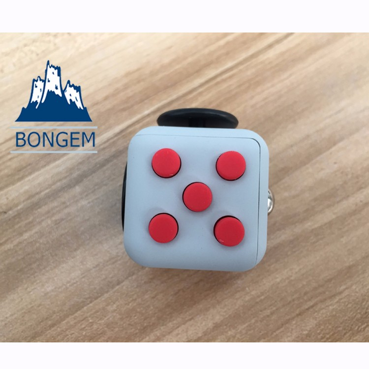 2017 newest colorful multi-functional desk toy fidget cube magic toys