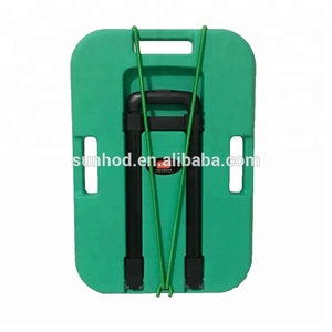 Plastic folding shopping trolley hand cart with large wheels