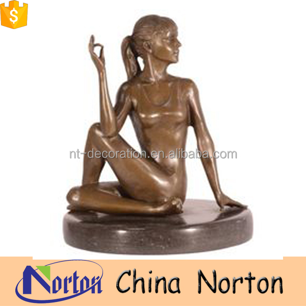 home ornaments sitting naked lady bronze sculptures NTBH-S022Y