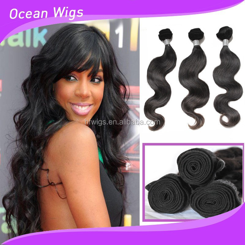 Middle Part Ocean Wave Weave Hairstyles Buy Body Wave Weave