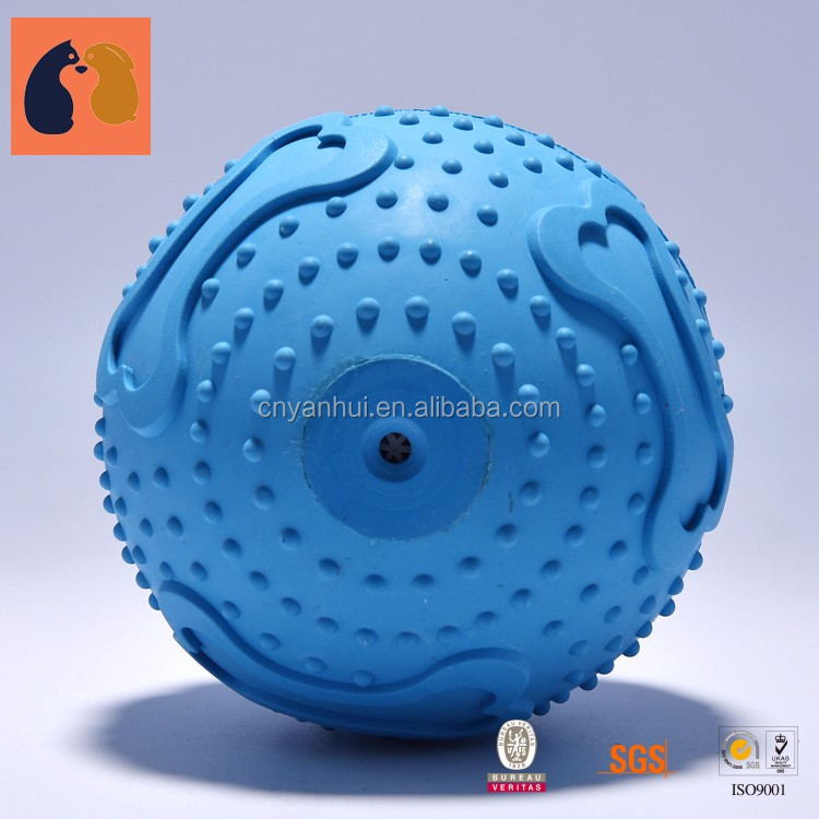 Wholesale Soft Rubber Dog Chew Toy Balls Custom Pet Chew Toys