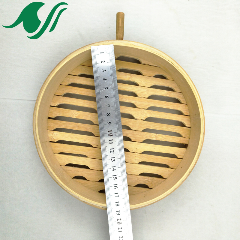8 inch bamboo steamer stainless with handle in China