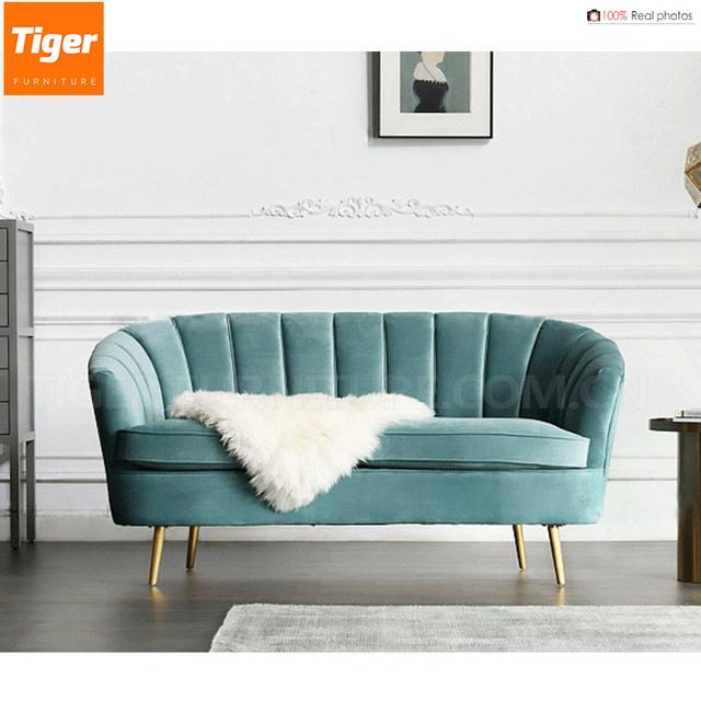 Promoción sofá de terciopelo de oro, Compras online de ...