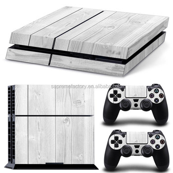 White Wood Pattern Skin Sticker Decals for PS4 for Playstation 4 Console & Controller