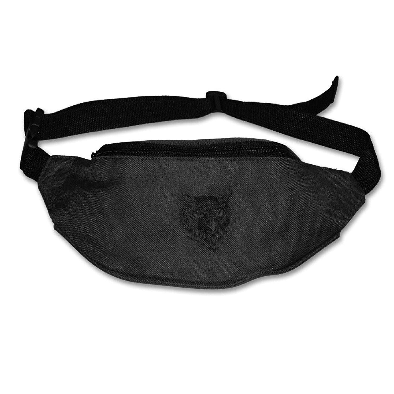 Ornate Owl Head Fanny Pack Belt Bag Waist Pack