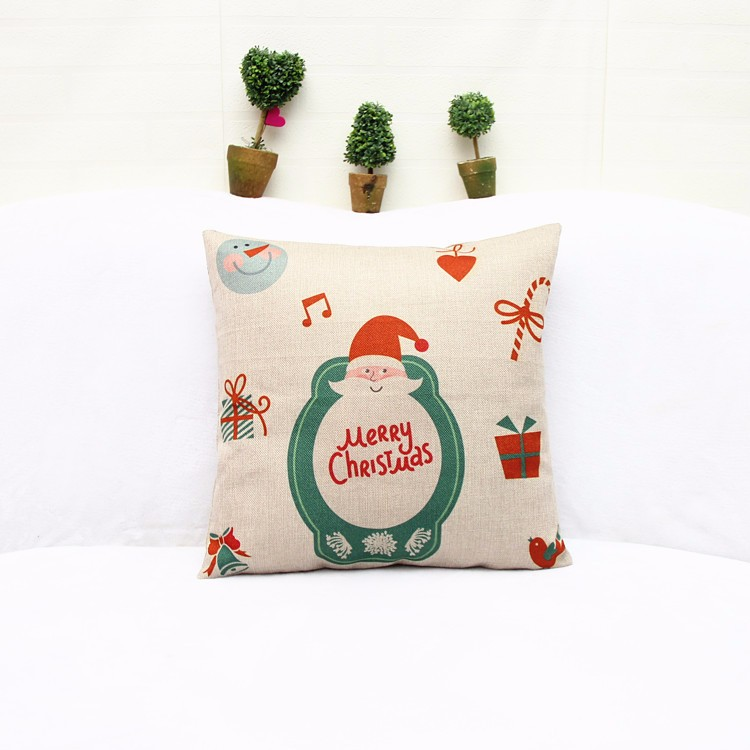 2017 Christmas Theme Printed Christmas Picture Square Cushion