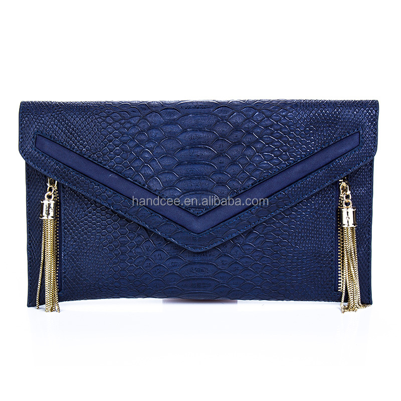 2016New fashion custom material crocodile print leather wallets