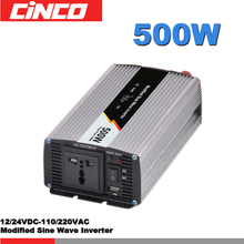 500 w power inverex Inverter sinus input 12 v/24 v, uitgangsspanning 110 v/120 v US plug