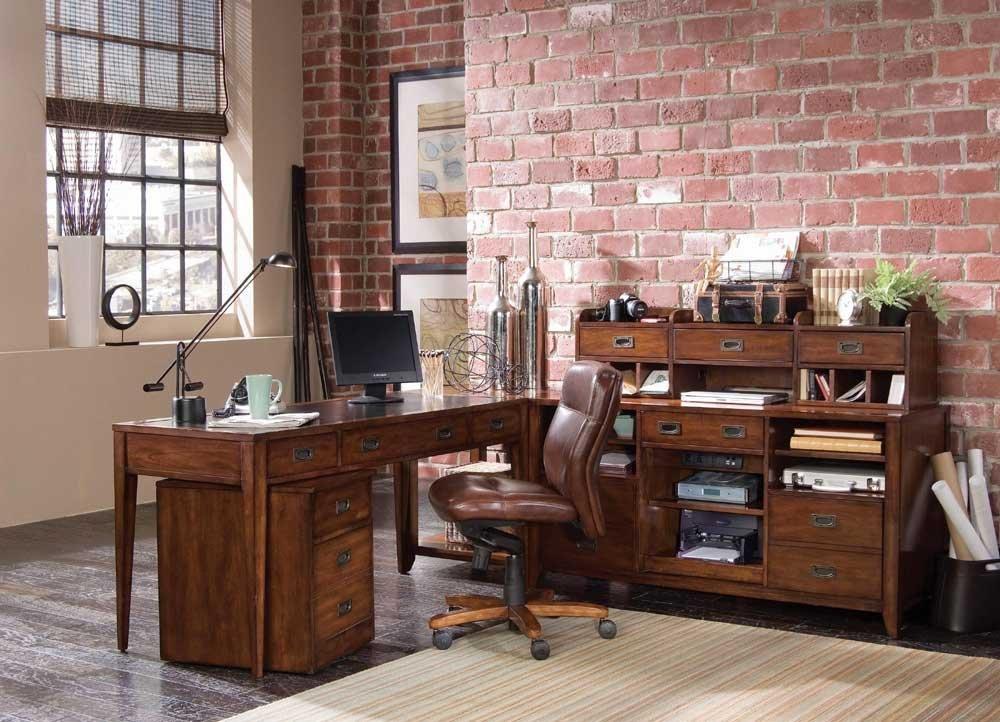 Hooker Furniture Danforth Smart Hutch in Rich Medium Brown