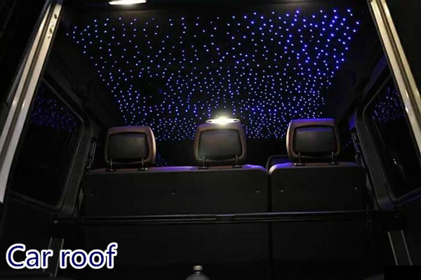 Home Car Roof Cinema Bed Room Ceiling Lighting Fiber Optic