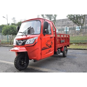 China Chongqing Factory Petrol Gasoline Cargo Tricycle Three Wheel Motorcycle Front Loading Van Cabin with Tool Box