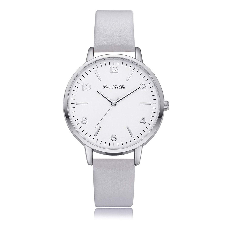 Women Quartz Watches On Sale, POTO Quartz Women Watch Clearance Luxury Fashion Casual Stainless Steel Alloy Round Wristwatch Womens Leather Band Analog Quartz Wrist Watch for Ladies